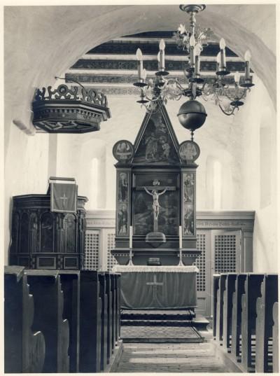 Der Innenraum um 1950